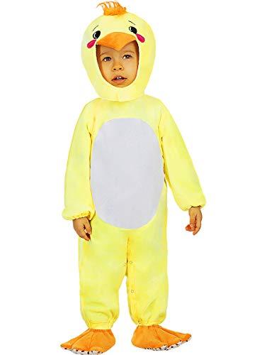 Funidelia | Disfraz de Pollito para bebé Talla 12-24 Meses ▶ Animales, Gallina, Pollo, Gallo - Color: Amarillo - Divertidos Disfraces y complementos para Carnaval y Halloween