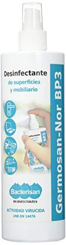 Bacterisan Germosan No Bp3 500Ml | Desinfectante Multiusos | Elimina El 99,99% De Virus, Gérmenes Y Bacterias De Todo Tipo De Objetos Superficies Y Textiles | Bacterisan 500 ml