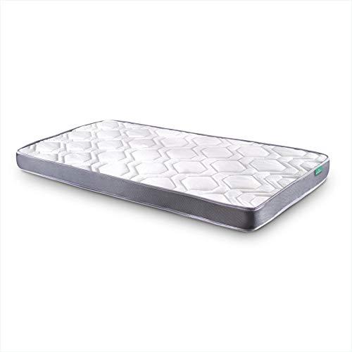 Dreaming Kamahaus Colchón Damas | Reversible | Fibras Hipoalerénicas y Soft Foam | Transpirable | ±12 cm altura | 90x190 cm