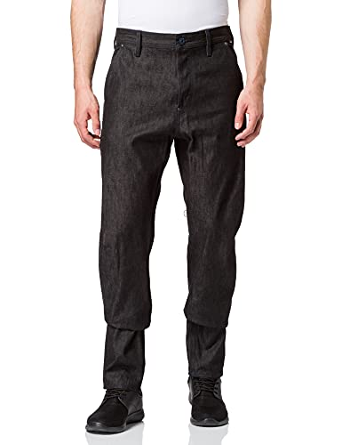 G-STAR RAW Mens Relaxed Tapered Jeans, Pitch Black C668-A810, 29W / 30L