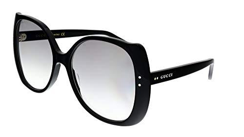 Occhiali da sole Gucci GG0472S BLACK/GREY SHADED donna