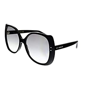 Fashion Shopping Gucci GG0472S BLACK/GREY SHADED 56/17/145 women Sunglasses