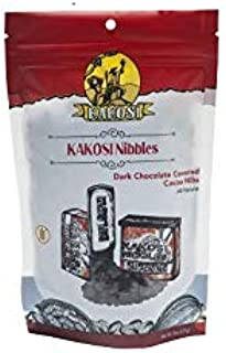 dark chocolate covered cacao nibs