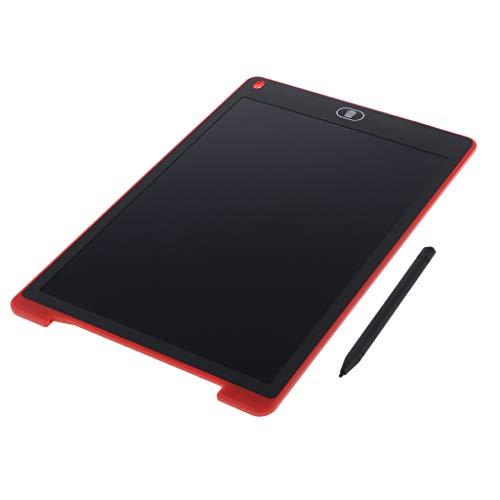 balikha Tablero de Escritura LCD de 12'Pulgadas Tablero de Dibujo E Writer Graphics Tablero de Trabajo de Dibujo DIY - Rojo