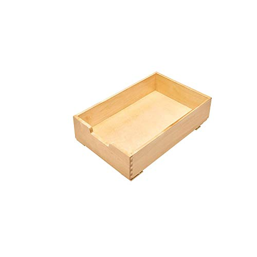 Rev-A-Shelf 4WDB-15 14 Inch Soft Close Wood Pull Out Organization Drawer, Maple