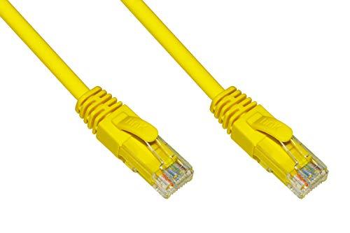 Link Cable de Red categoría 6 A, sin apantallado, UTP AWG24, Color Amarillo, sin halógenos, 20 m