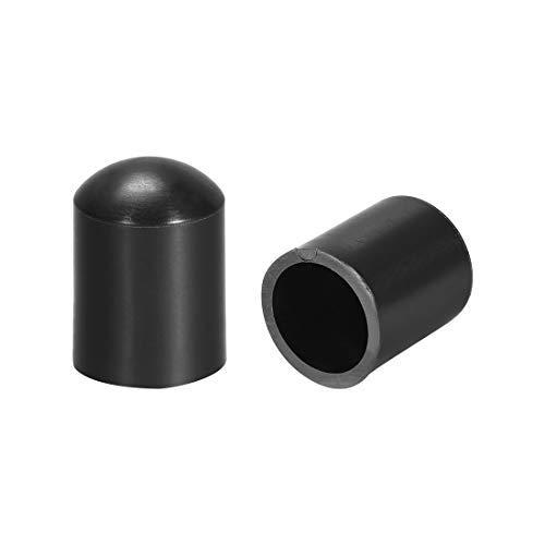 DealMux 20pcs 1/2 Zoll ID Runde schwarze Kappe Flexible Pipe Post Kunststoffabdeckung