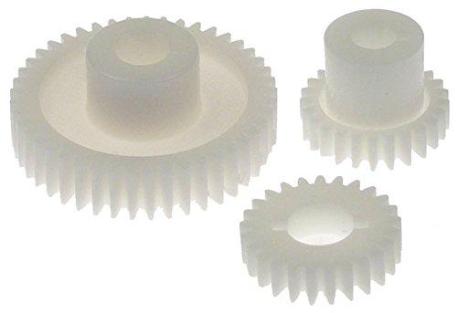 Fimar Zahnrad für Nudelmaschine SE220 Achsaufnahme 12/14/17mm Satz ø 40/70mm Kunststoff Zahnbreite 10/15mm