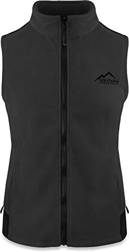 normani Fleece Weste für Damen mit Reißverschlusstaschen, Stehkragen, ZIP-T3K System Farbe Anthrazit Größe XL