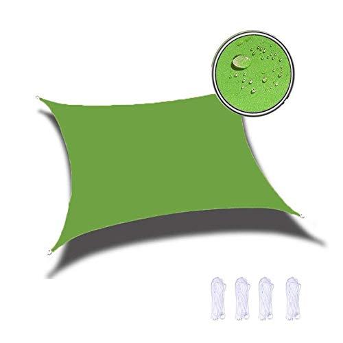 DGDG Myan Protector solar 95% protección solar para jardín, patio, piscina, toldo para camping, toldo impermeable (color: verde fruta, tamaño: 6 x 9 m)