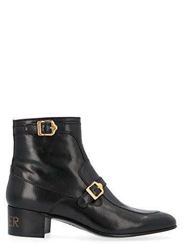 Luxury Fashion | Gucci Heren 585856D3V001000 Zwart Leer Enkellaarzen | Herfst-winter 19