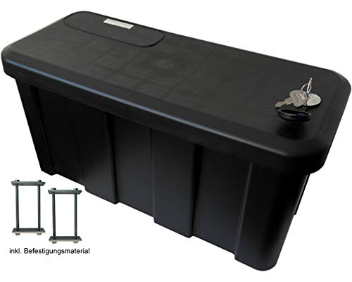 HGW Anhängerbox,Gurtkiste, Deichselbox 25 Liter, inkl. Befestigungsmaterial