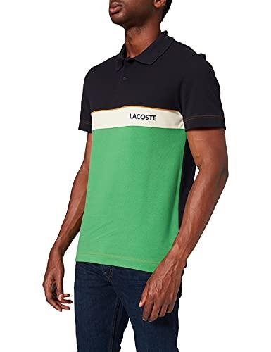 Lacoste PH9766 Camisa de Polo, Abimes/Cerfeuil-Naturel C, XL para Hombre