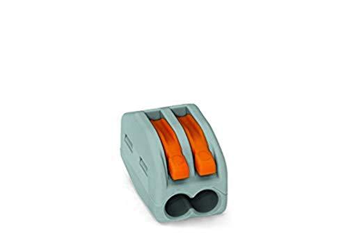 WAGO® Klemme, 2-Leiter, 4 mm², Verbindungsklemme mit Hebel, 222-412 (50 Stück)