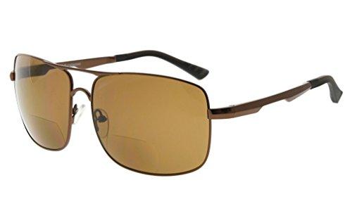 Eyekepper Bifocal Zonnebril Lezen Zonnebril voor mannen +1.00 bruin