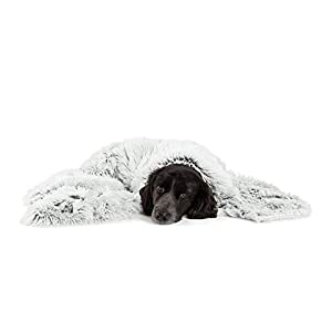 Best Friends by Sheri Luxury Shag Dog & Cat Throw Blanket 40×50, Frost, Matching Donut Shag Cuddler Bed, Multi-Use, Mat, Sofa Cover, Warming (PTB-SHG-FRS-4050)