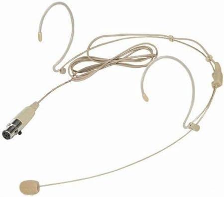 TA4F Beige Headset Microphone for Shure Wireless XLR Mini 4pin Single Hook WALLER PAA