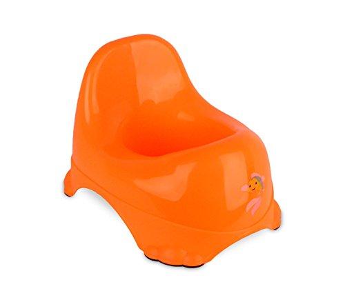 MEDIAWAVE Store 188699 Vasino per bambini 25x22 cm in plastica colorata con gommini antiscivolo. (Arancione)