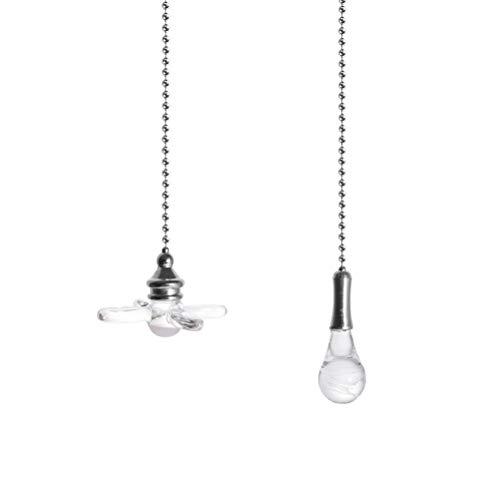 Jky plafondventilator-trekketting fan pull chain decoratieve lichtketting trekketting verlengstuk met kristallen knop hanger voor verlichting plafondventilatoren lamp