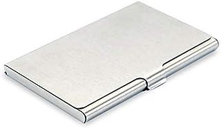 DAHSHA Silver Stainless Steel Unisex Card Holder (Steel Card Holder)