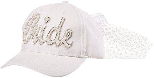 Betsey Johnson Women's Retro Bride Baseball Cap, White, one Size