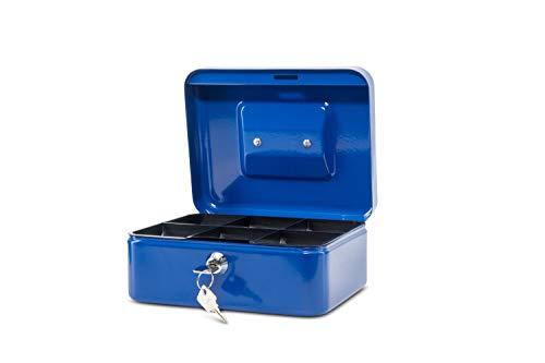 Maul Geldkassette 2, Blau, Herausnehmbarer Hartgeldeinsatz, 200 x 90 x 170 mm, 5610237, 1 Stück