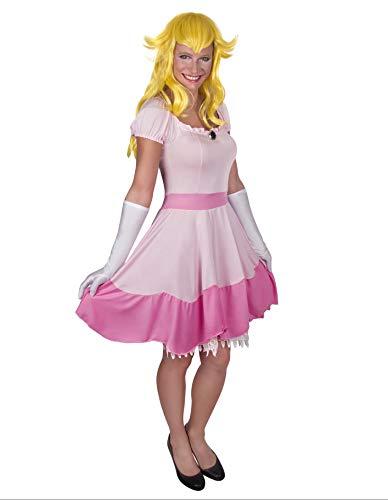 Party Fiesta Disfraz Princesa Rosa Videojuego para Mujer (L)