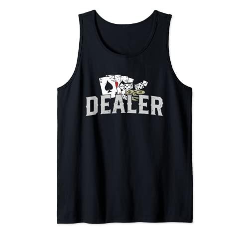 Disfraz de crupier de pker I Crupier de casino I Pker Camiseta sin Mangas