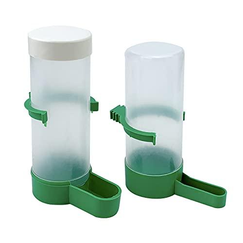 Fyfjur Alimentador de Pájaros Bebedero, 2 Piezas Bebedero Clip Plástico Automático Agua Potable Rociador Pájaro Taza Bebedero Cuenco Bebedero para Loros Budgie Aviario Cockatiel (L)