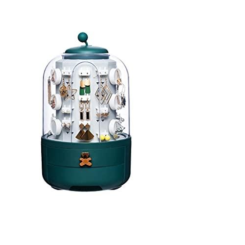 NHDY Organizador de joyería Collar portátil Pendientes Anillos Caja de joyería Embalaje Almacenamiento Caja de Almacenamiento 0717 (Color : A)