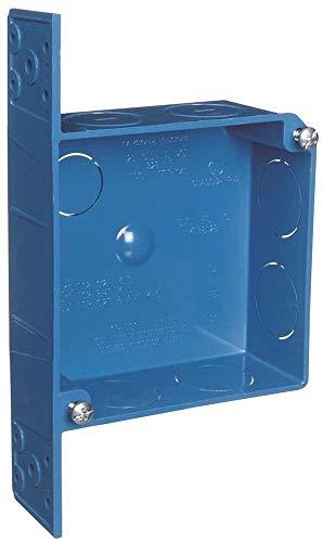 Carlon Lamson & Sessons A52151DR-CAR 4' 2 Gang Blue ENT Quick Connect Smurf Switch/Outlet Box