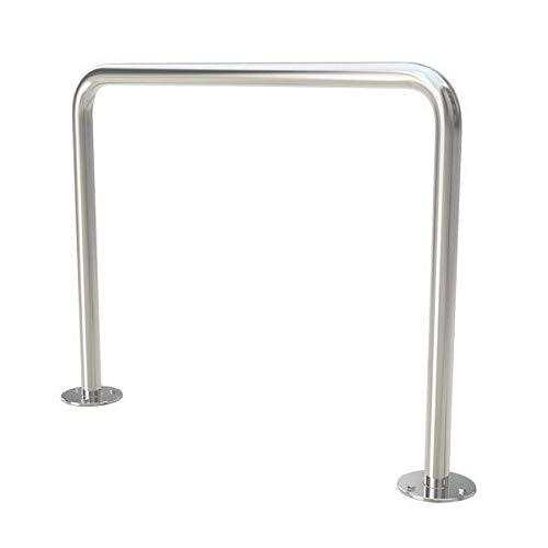Edelstahl Fahrradständer Abweisbügel Anlehnparker zum Festschrauben Ø 42,4x2,6 (Edelstahl V2A)