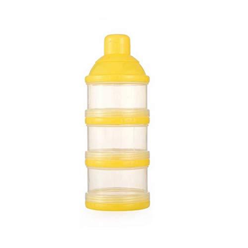 Demarkt melkpoeder portieer melkpoeder box zuigelingenvoeding melk poeder dispenser blauw 17 x 7 x 4,2CM geel