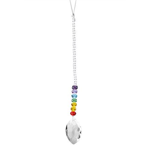 Kristal hangende hanger, handgemaakte regenboog kristal prismabal kroonluchter lamp bal verlichting hanger voor Kerstmis raam auto decoratie