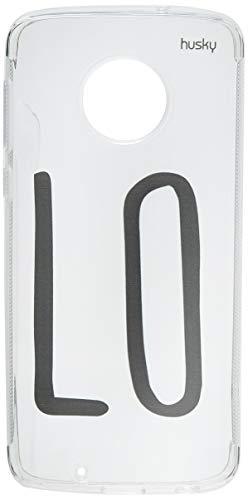 Capa Personalizada loVE Parte 1, Husky para Moto G6, Capa Protetora para Celular, Transparente