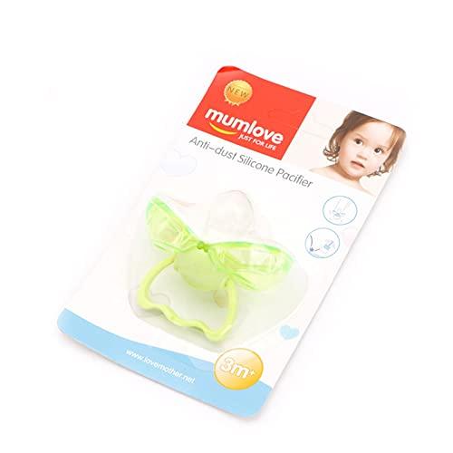 yuese Chupetes para niños Chupete de cierre automático Chupete de silicona para bebés pezones de bebé con accesorio para niños (color: GN)