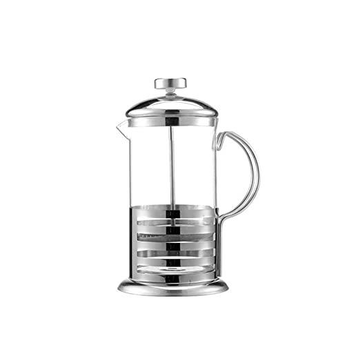350/600/800/1000 ML Máquina de café de Prensa Francesa Tetera Resistente al Calor Tetera de Vidrio de Acero Inoxidable Cocina Portátil Oficina para el hogar Anti-Rust MOX Lavavajillas Safe Black Apto