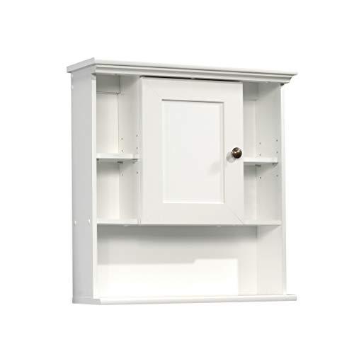 Sauder Peppercorn Wall Cabinet, Soft White Finish