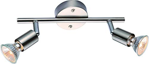 DM Leuchten Deckenlampe LED Lampe schwenkbar 2 flammig inkl. Leuchtmittel 2x 3 Watt, warmweiß, GU 10 Fassung, LED Deckenleuchte LED Strahler LED Spot, Titan (titanfarbig)