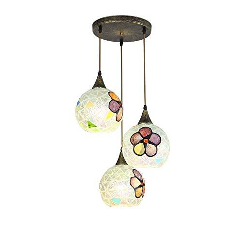 DFMD smeedijzeren Europese lampen, glas LED-verlichting van Vendimia eettafel plafondlamp retro balkon vloerlamp