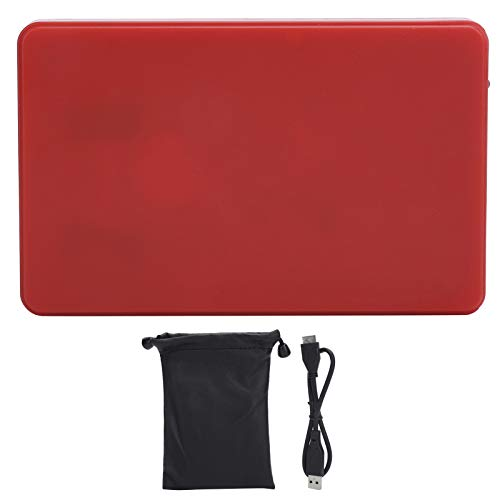 Disco Duro móvil de 2.5 Pulgadas, Disco Duro Externo de Almacenamiento básico Plug and Play, USB3.0 para PC, computadora de Escritorio, portátil (Rojo)(2 TB)
