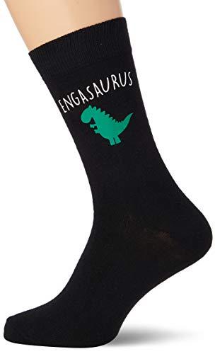Mens ingenieur dinosaurus engasaurus vader dag kerst cadeau zwarte sokken cadeau