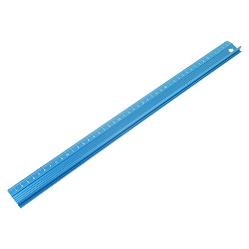 WAHSBAG Regla de medición, regla recta de aleación de aluminio profesional, escala de protección, herramienta de dibujo de ingenieros de medición, 3 tamaños
