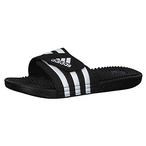 Adidas Adissage Zapatos de playa y piscina Unisex adulto, Negro (Negro 000), 42 EU (8 UK)