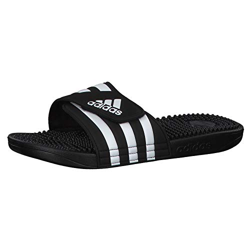 Adidas Adissage Zapatos de playa y piscina Unisex adulto, Negro (Negro 000), 44.5 EU (10 UK)