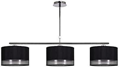 Lámpara colgante en tres linternas negras Ring Rundedesign araña ...