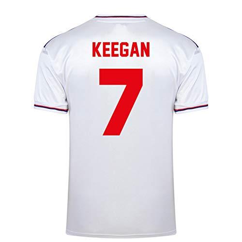 """Englische Nationalmannschaft - Herren Trikot WM 1982 - Heim- & Auswärtstrikot - Weiß - Aufschrift """"Keegan 7"""" - XL"""