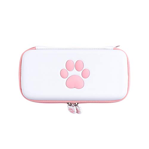 Bolsa de transporte com pata de gato fofa para Nintendo Switch Lite Bolsa de armazenamento portátil para Switch Lite