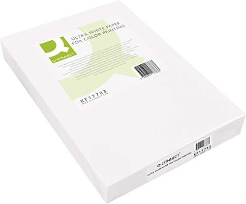 Q-Connect - Papel Fotocopiadora Ultra White Din A4 160 Gramos Paquete De 250 Hojas