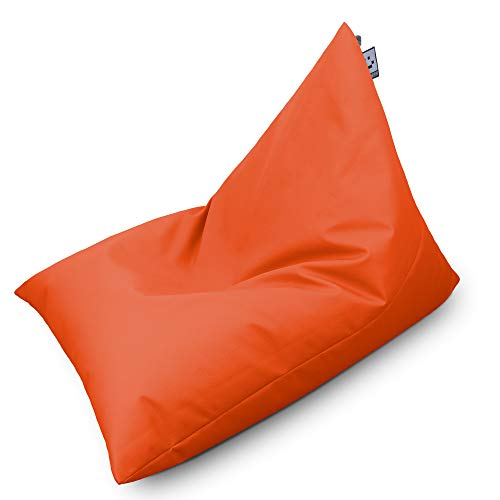 HAPPERS Puff Pirámide Mini Polipiel Indoor Naranja